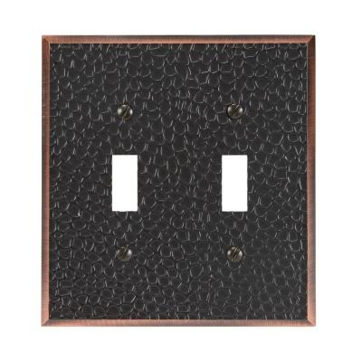 Bronze 2-Gang Toggle Wall Plate (1-Pack)