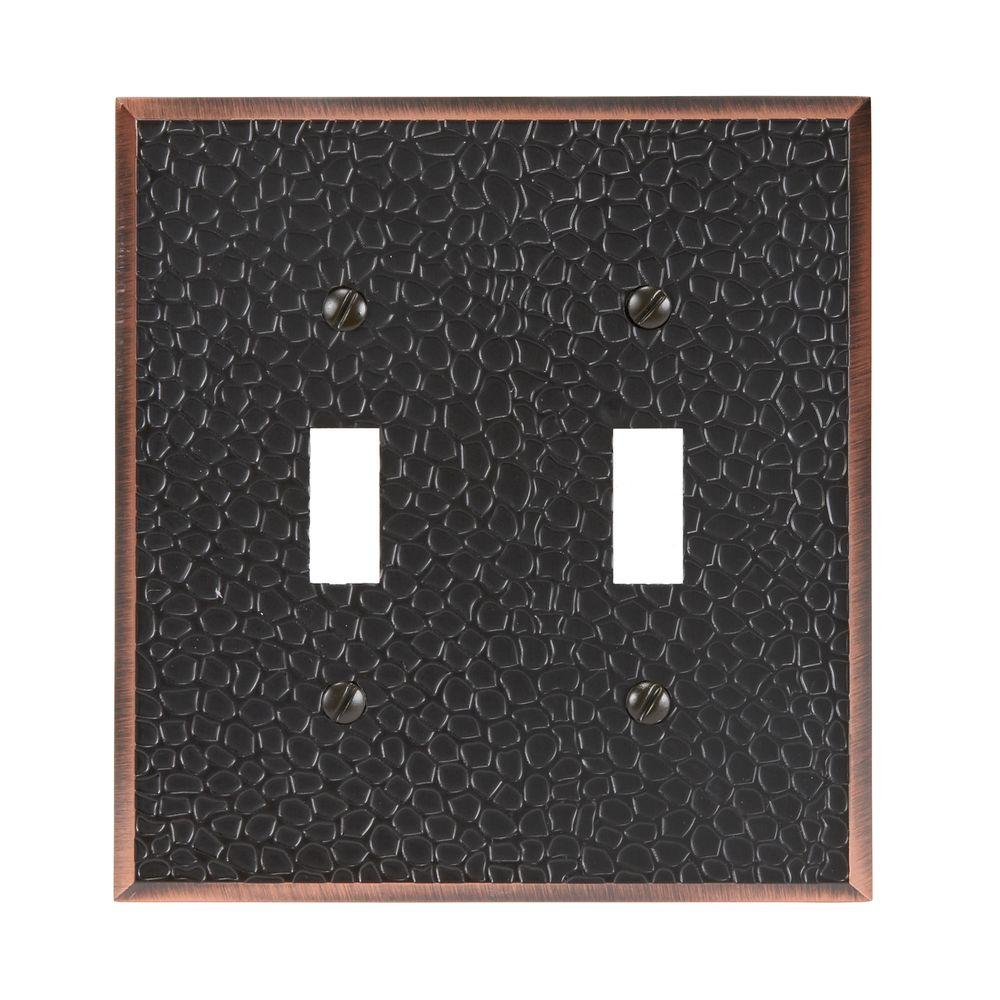 Amerelle Moroccan 2 Toggle Wall Plate - Aged Bronze-63TTDB - The ...