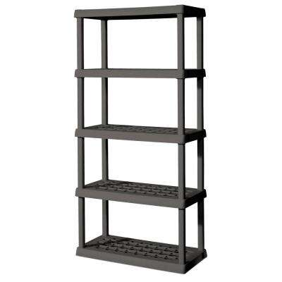 36 in. W x 75.125 in. H x 18 in. D 5-Shelf Plastic Shelving Unit