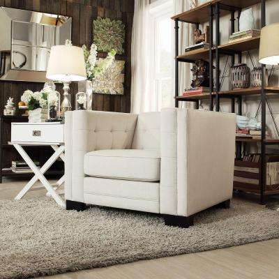 Monte Vista White Linen Arm Chair