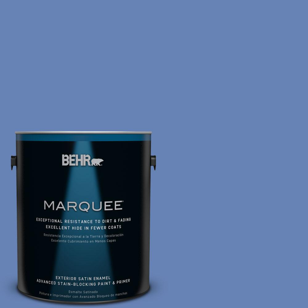 BEHR MARQUEE 1-gal. #PPU15-6 Neon Blue Satin Enamel Exterior Paint
