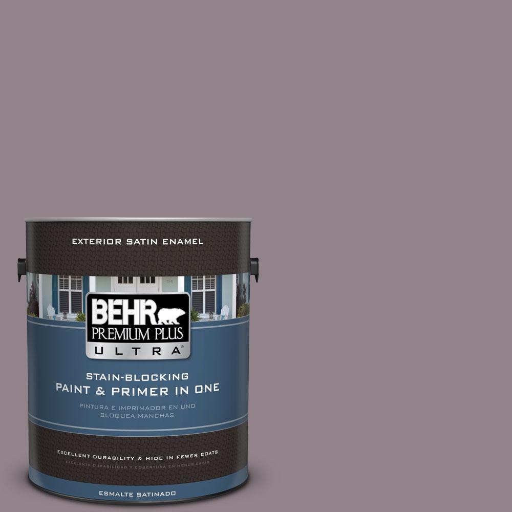 BEHR Premium Plus Ultra 1-gal. #N110-4 Gothic Purple Satin Enamel Exterior Paint