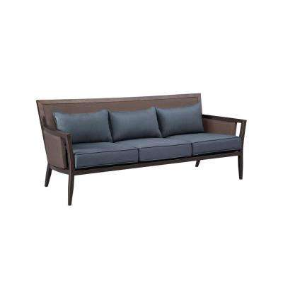 Greystone Patio Sofa with Denim Cushions -- CUSTOM