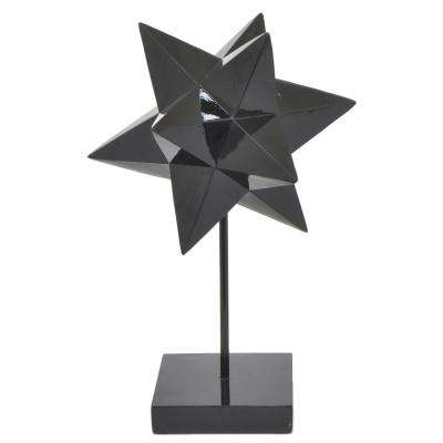 14 in. Silver Resin Spiked Tabletop Decor