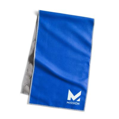 10 in. x 33 in. Blue Polyester/Nylon Cooling Towel (4-Pack)