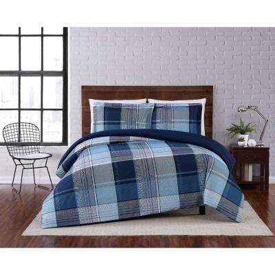 3-Piece Multi Trey Full/Queen Duvet Cover Set