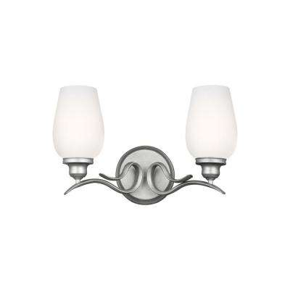 Standish 2-Light Heritage Silver Vanity Light