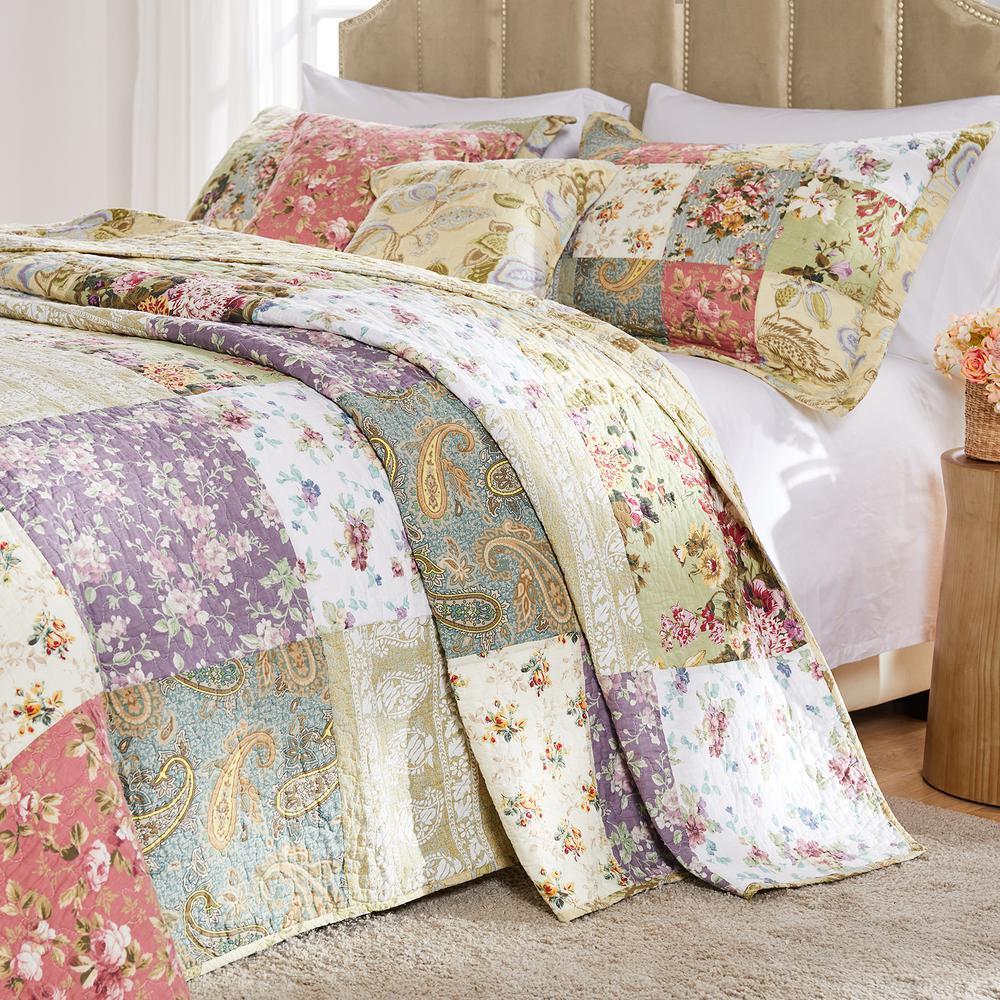 Blooming Prairie 3-Piece Queen Bedspread Set