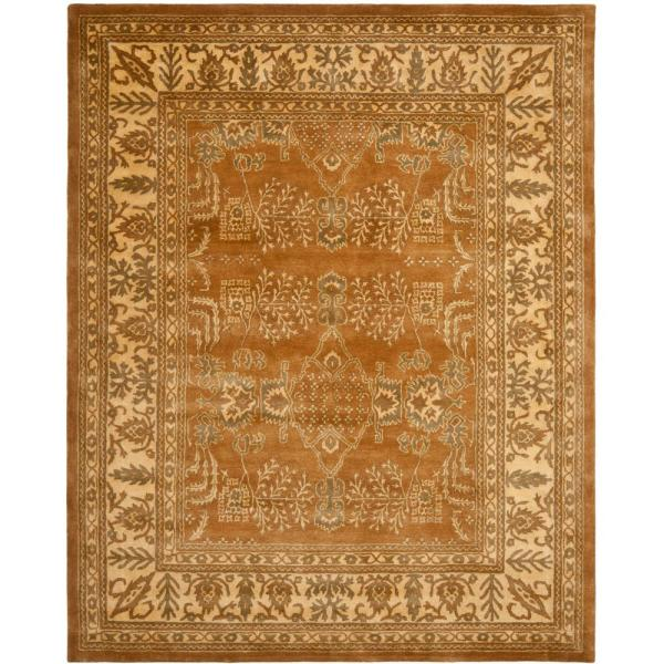 Safavieh Bergama Light Brown Beige 8 Ft X 10 Ft Area Rug Brg190a 8 The Home Depot