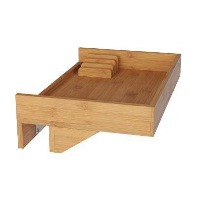 13.8 in. x 9 in. x 3.75 in. Bamboo Clamp-On Bedside Shelf