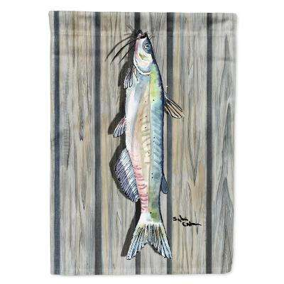 11 in. x 15-1/2 in. Polyester Fish Catfish 2-Sided 2-Ply Garden Flag