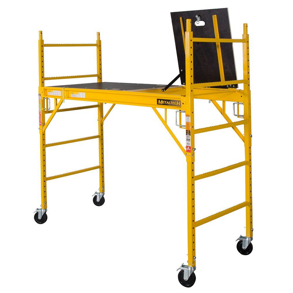 MetalTech Safeclimb Baker Style 6 ft. x 6 ft. x 2-1/2 ft. Scaffold 1100 lbs. Capacity
