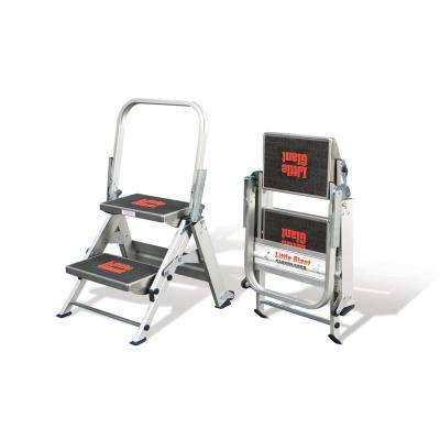 2 ft. Safety Aluminum Step Ladder with 300 lb. Load Capacity Type IA Duty Rating