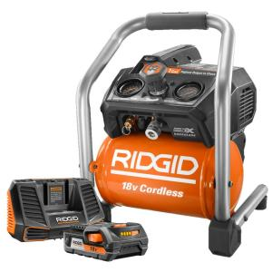 Ridgid 1 Gal. 18-Volt Hand Carry Air Compressor with Upgrade Kit by RIDGID