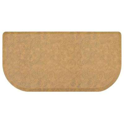 Clarance Beige 39 in. x 20 in. Embossed Wedge Gelness Mat