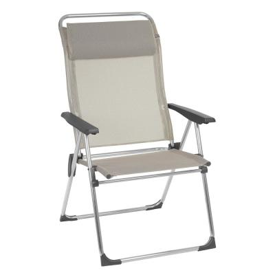 Alu Cham XL Seigle Beige Aluminum Folding Outdoor Beach Chair (2-Pack)