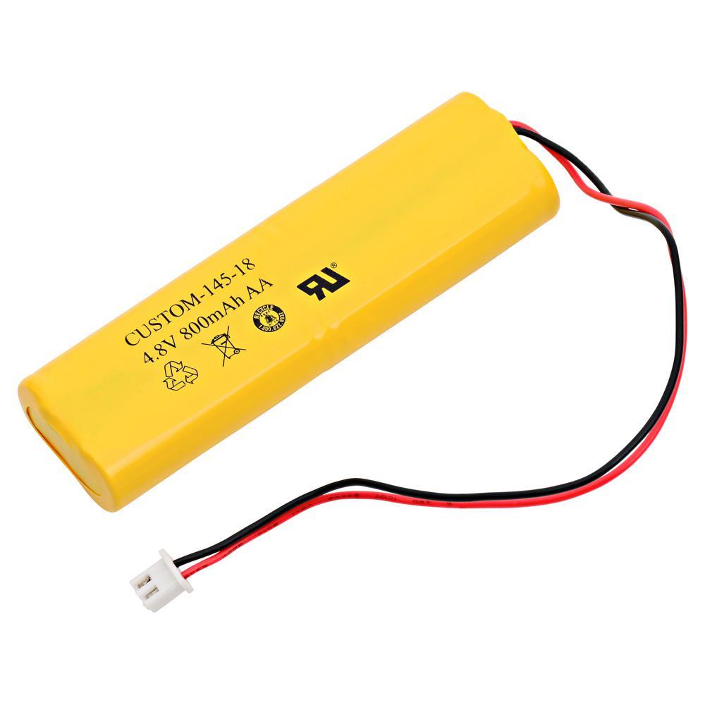 Dantona 4.8-Volt 800 mAh Ni-Cd battery for All Fit - E1021R Emergency Lighting