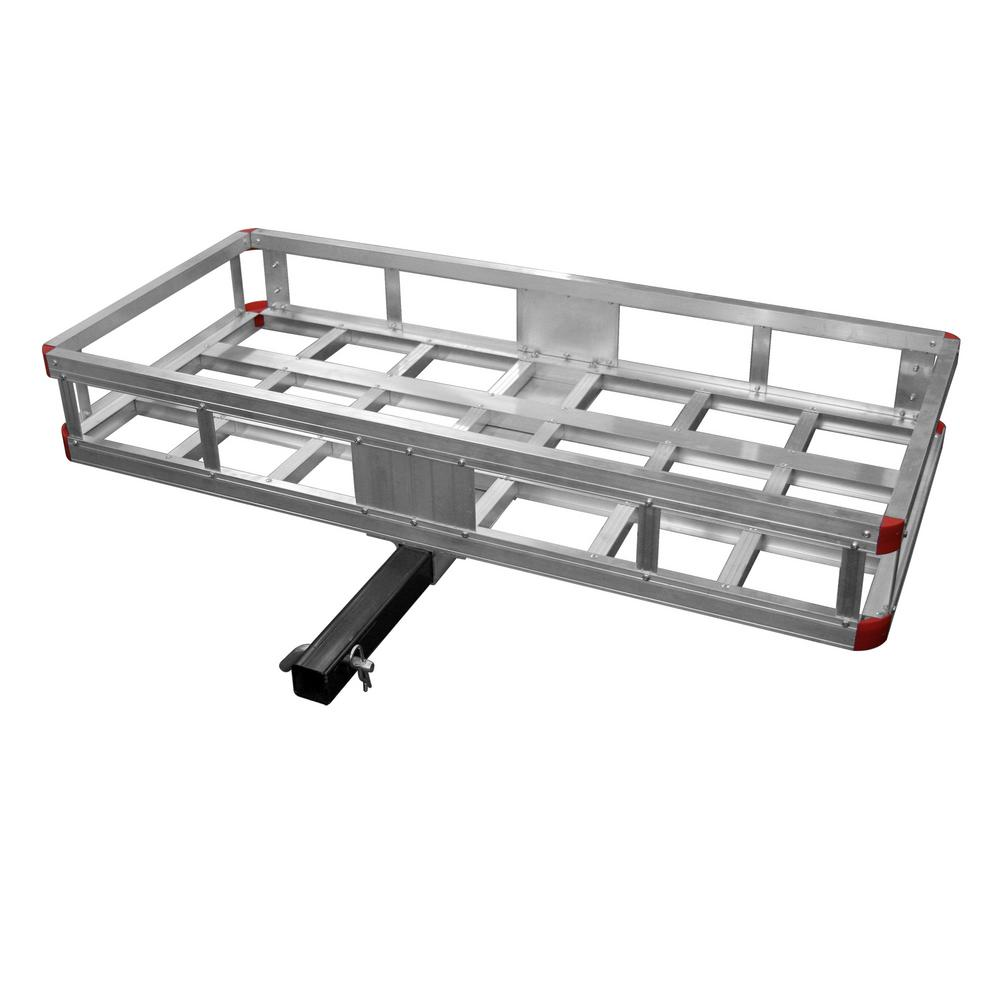 SPEEDWAY 500 lb. Capacity 40 inch x 20 inch Aluminum Hitch Cargo Carrier for 2 inch Receiver