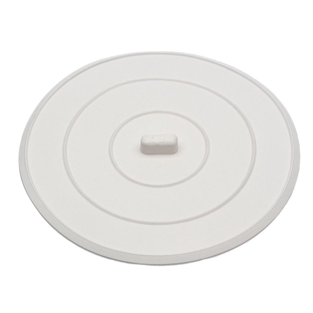 Danco 5 In Flat Suction Sink Stopper In White 89042 The Home Depot
