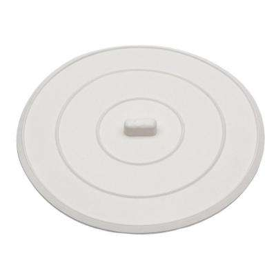 5 in. Flat Suction Sink Stopper in White