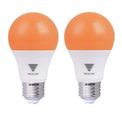 60-Watt Equivalent A19 Orange LED Light Bulb (2-Pack)