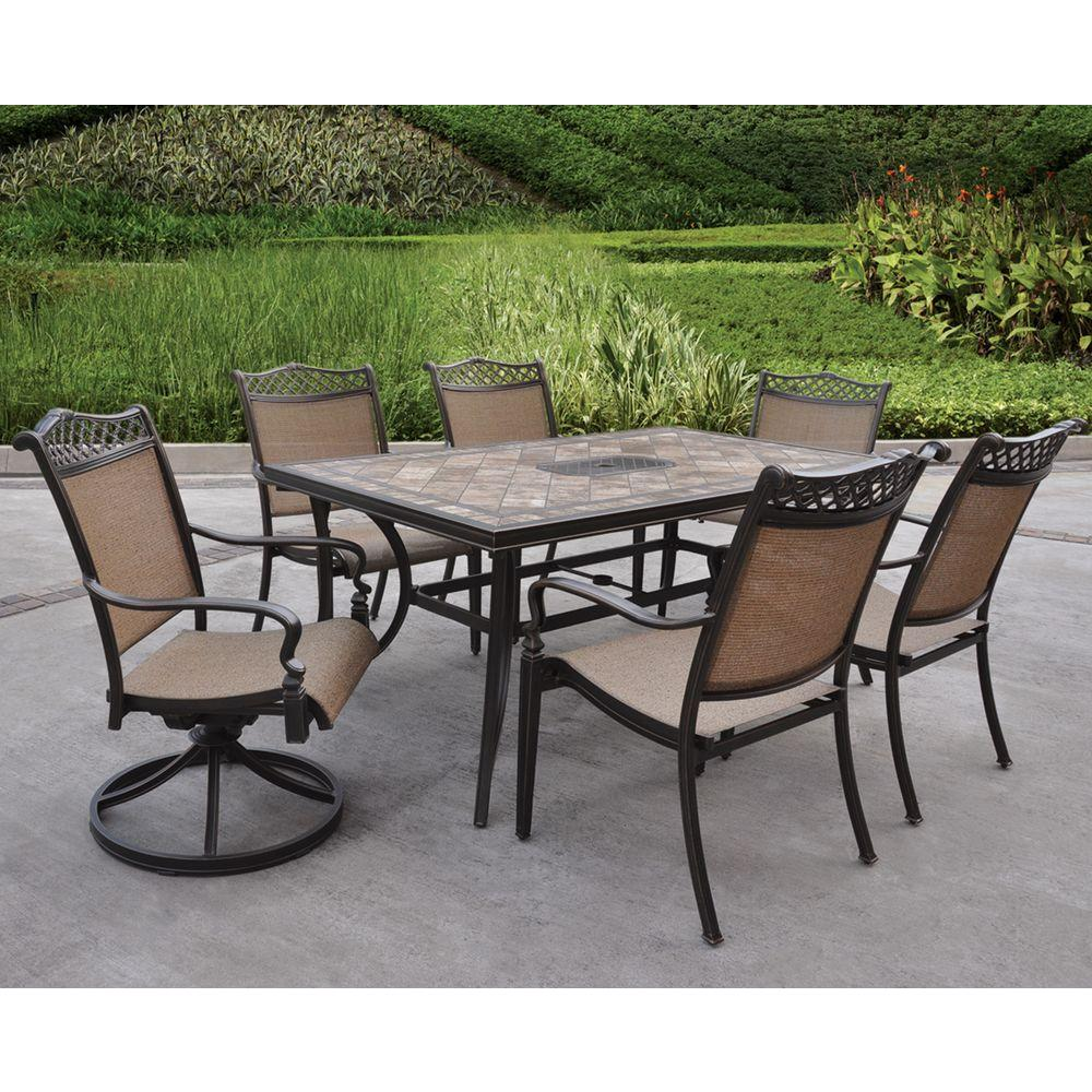Hampton Bay Eberton 7-Piece Patio Dining Set-DISCONTINUED