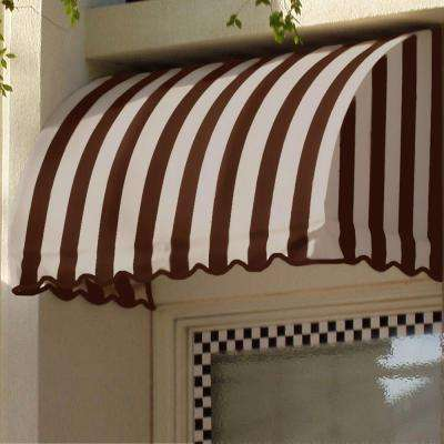45 ft. Savannah Window/Entry Awning (44 in. H x 36 in. D) in Brown/Tan Stripe