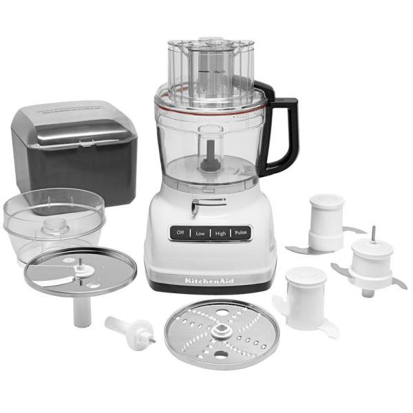 Kitchenaid Exactslice 11 Cup 3 Speed White Food Processor