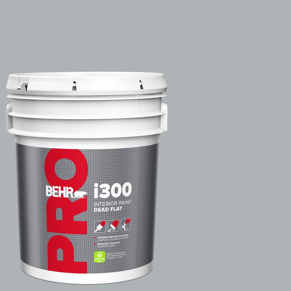 Behr Pro 5 Gal N510 3 Stargazer Dead Flat Interior Paint Pr31005 The Home Depot