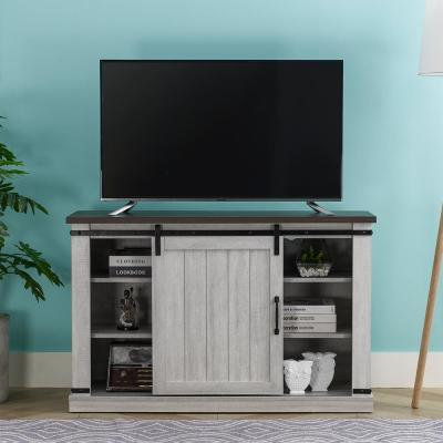 47.2 in. Saw Cut Off White TV Stand (Fits TVs Up To 55 in.)