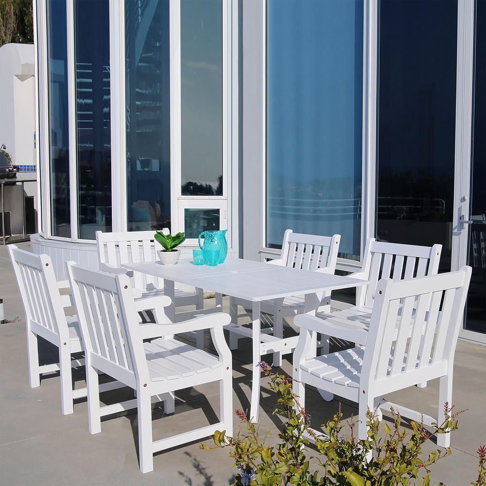 Bradley Wood 7-Piece Outdoor Dining Set