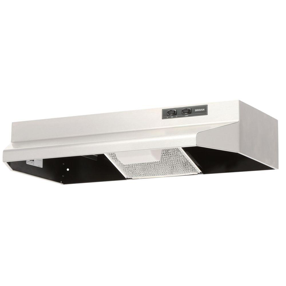 Broan 40000 Series 30 in. Under Cabinet Range Hood with Light in Stainless  Steel