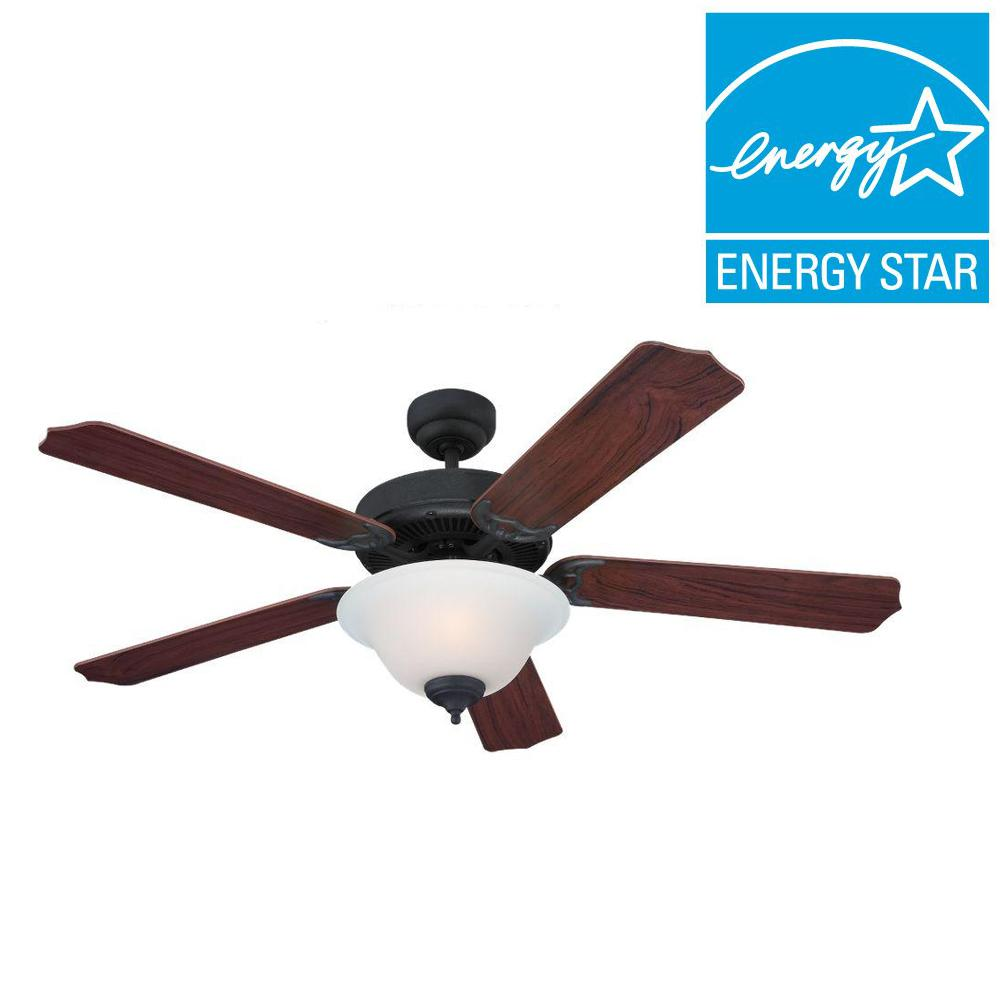 Sea Gull Lighting Quality Max Plus 52 in. Weathered Iron Indoor Ceiling Fan