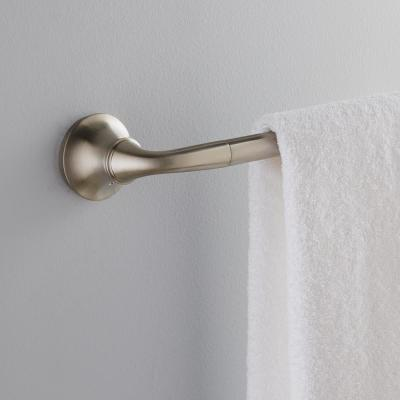 Forte Sculpted 24 in. Towel Bar in Vibrant Brushed Nickel