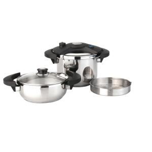 BergHOFF Eclipse 5-Piece Stainless Steel Pressure Cooker Set by BergHOFF