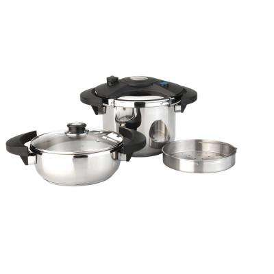 Eclipse 5-Piece Stainless Steel Pressure Cooker Set