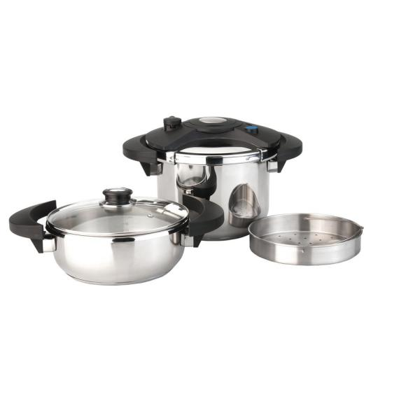 BergHOFF Eclipse 5-Piece Stainless Steel Pressure Cooker Set
