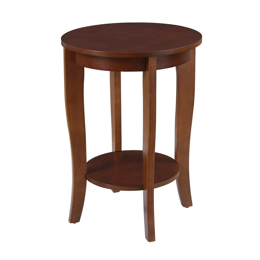 American Heritage End Table: Convenience Concepts American Heritage Mahogany End Table