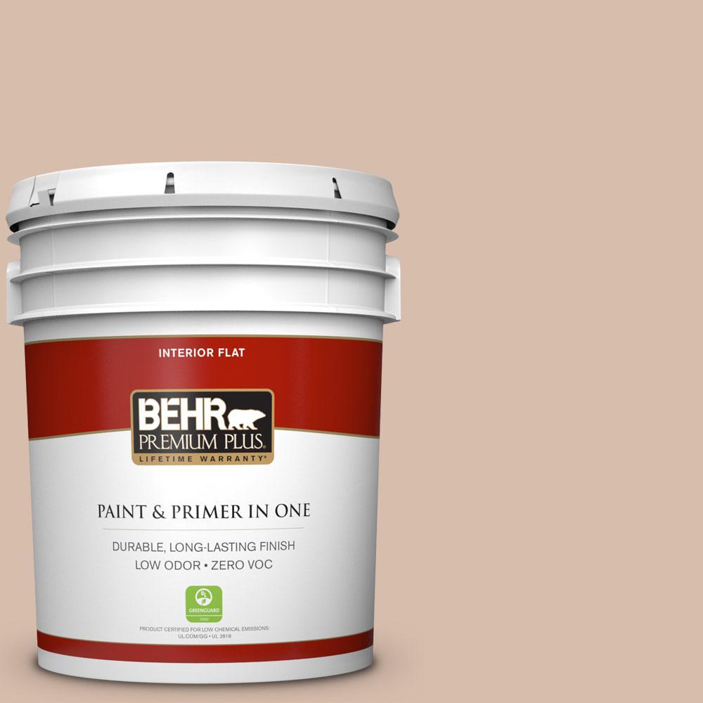 BEHR Premium Plus 5-gal. #ICC-42 Comforting Zero VOC Flat Interior Paint