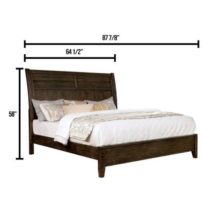 Agapetos in Walnut Queen Bed