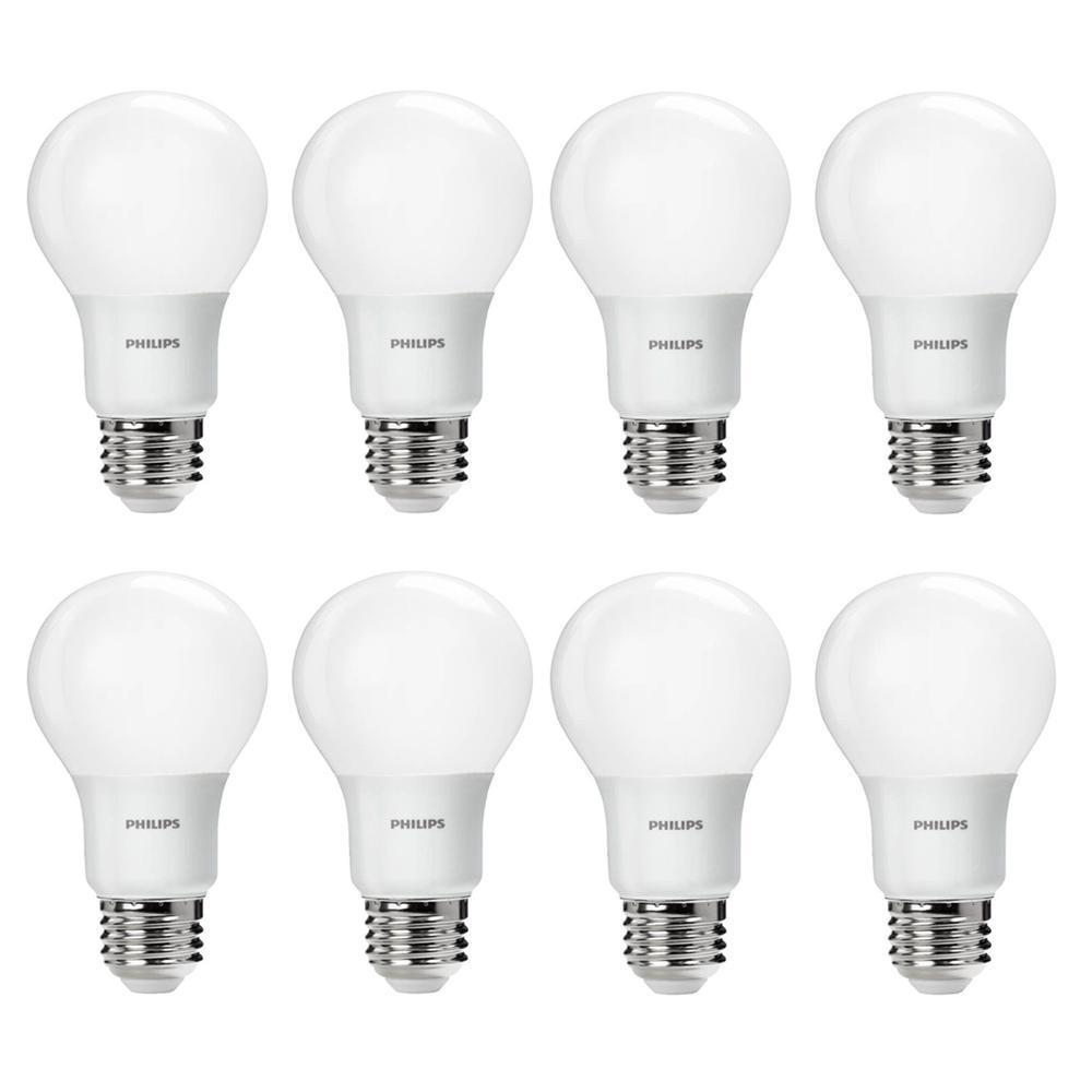 60-Watt Equivalent A19 Non-Dimmable Energy Saving LED Light Bulb Daylight (5000K) (8-Pack)
