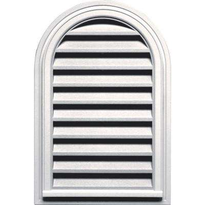 22 in. x 32 in. Round Top Gable Vent in Bright White