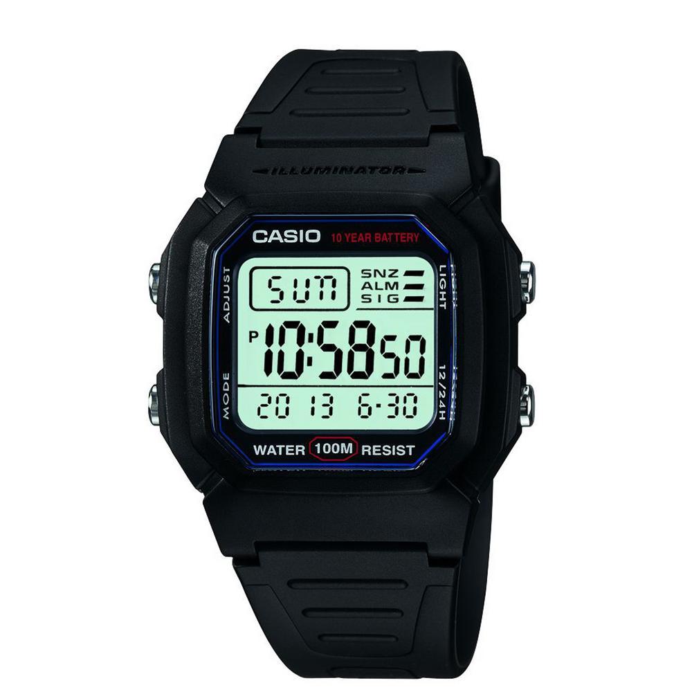 Men's W800H-1AV Classic Sport Watch with Black Band