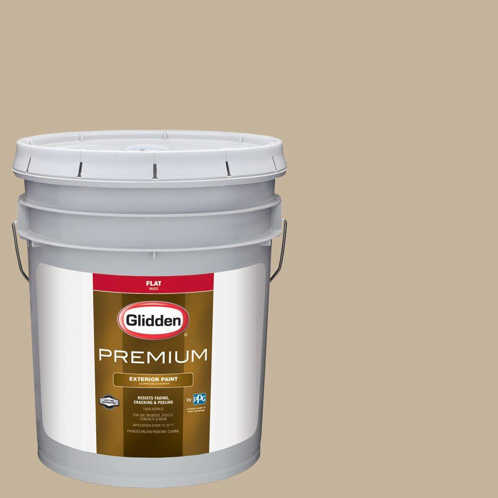 Glidden Premium 5-gal. #HDGWN40 Jefferson House Tan Flat Latex ...