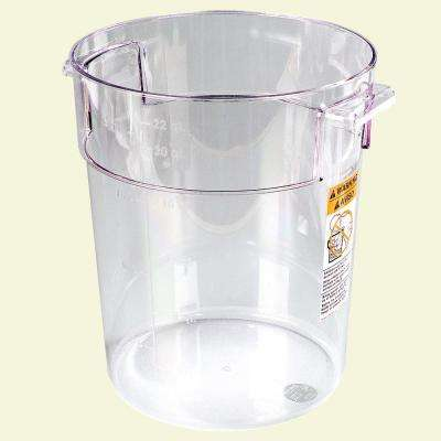 22 qt. Polycarbonate Round Storage Container in Clear (Case of 6)