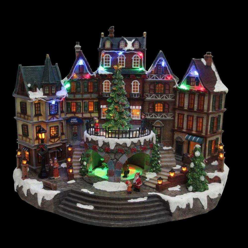 home accents holiday 125 in animated holiday downtown - Christmas Village Decorations
