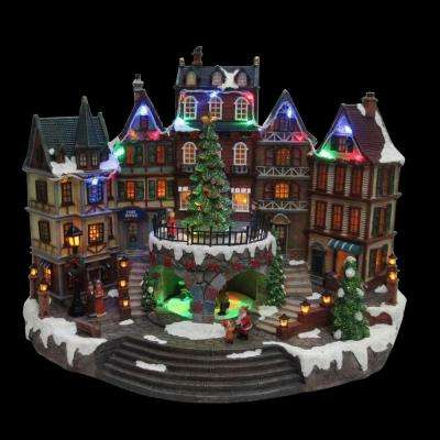animated holiday downtown - Animated Christmas Decorations Indoor
