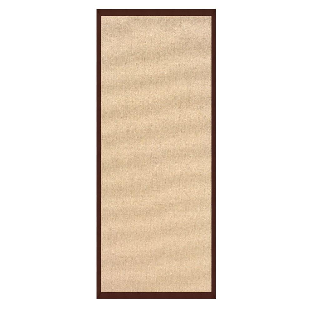Linon Home Decor Athena Natural and Brown 2 ft. 6 in. x 8 ft. Rug Runner