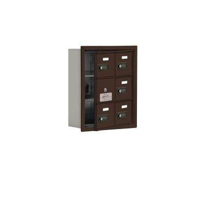 19100 Series 16.25 in. W x 18.75 in. H x 5.75 in. D 5 Doors Cell Phone Locker R-Mount Resettable Locks in Bronze