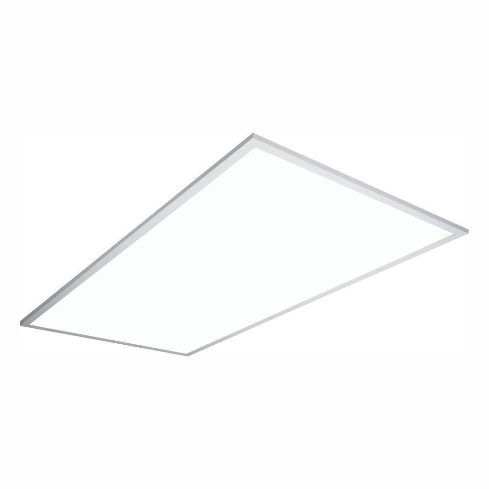 2 ft. x 4 ft. White Integrated LED Flat Panel Troffer Light Fixture at 4700 Lumens, 4000K Cool White